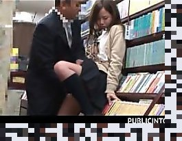 japanese school girl library